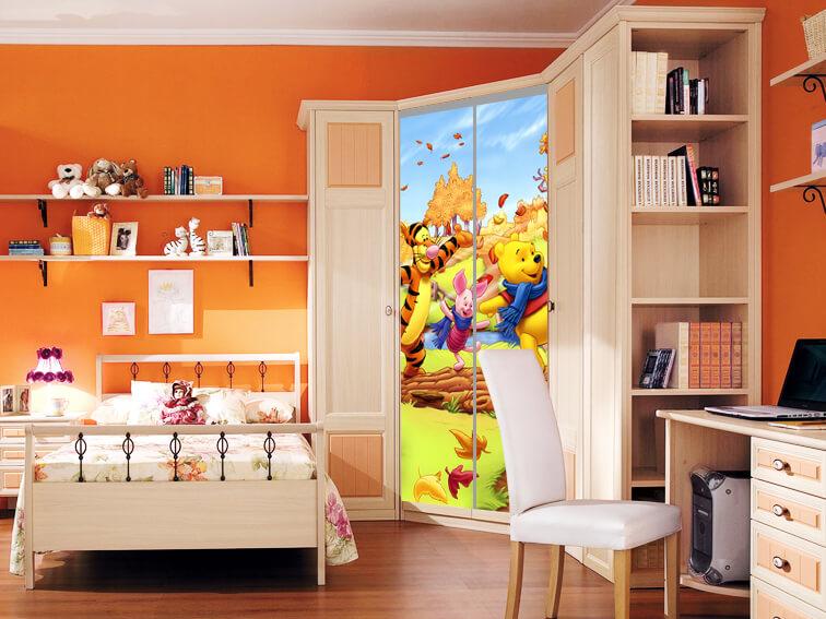 Детские угловые шкафы купе фото